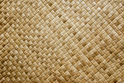 Lauhala mat  Lauhala weaving has been done for centurys in the Pacific Islands. From the tough and flexible leaves of the hala tree, wall thatch for houses, mats for floors and to sleep on, window shutters, roof lining, storage baskets, canoe sails and even loincloths were made.The fruit on these trees looks just like pineapples, but is more like sugar cane. The tree has aerial roots that make it look like the tree can walk - like the Ents in Lord of the Rings!