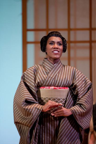 Mezzo-soprano J'Nai Bridges is Suzuki in San Diego Opera's MADAMA BUTTERFLY (April, 2016). Photo by J. Katarzyna Woronowicz.