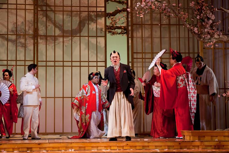 Tenor Joseph Hu is Goro in San Diego Opera's MADAMA BUTTERFLY (April, 2016). Photo by J. Katarzyna Woronowicz.