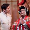 Tenor Teodor Ilincai is B.F. Pinkerton and soprano Latonia Moore is Cio-Cio San in San Diego Opera's MADAMA BUTTERFLY (April, 2016). Photo by J. Katarzyna Woronowicz.