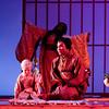 Charlie Wattson is Trouble, mezzo-soprano J'Nai Bridges is Suzuki and soprano Latonia Moore (background) is Cio-Cio San in San Diego Opera's MADAMA BUTTERFLY (April, 2016). Photo by J. Katarzyna Woronowicz.