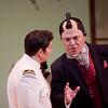 (L-R) Tenor Teodor Ilincai is B.F. Pinkerton and tenor Joseph Hu is Goro in San Diego Opera's MADAMA BUTTERFLY (April, 2016). Photo by J. Katarzyna Woronowicz.