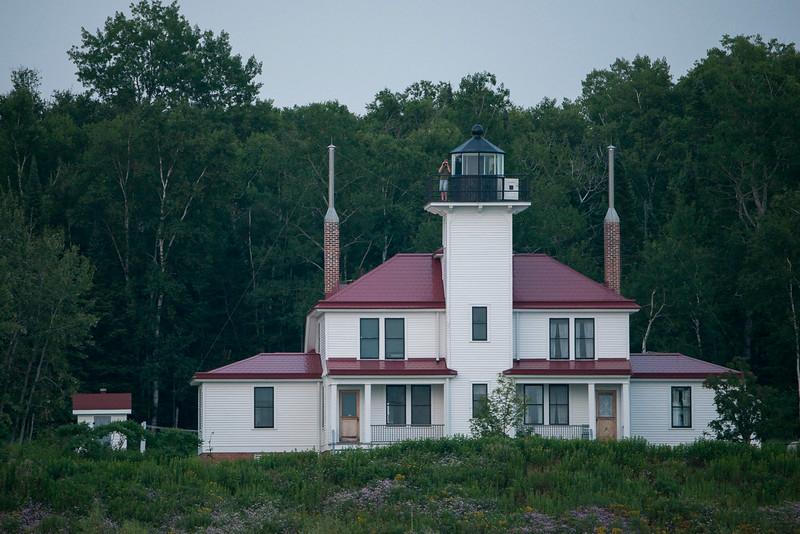 Duplex lighthouse on Raspberry Island