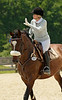 Jean Fowler and NZ Jewel 1st place Novice rider A (second week)