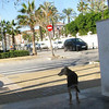 Jaen looking out from where he use to live across from the Las Arenas Hotel