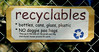 recyclables sign