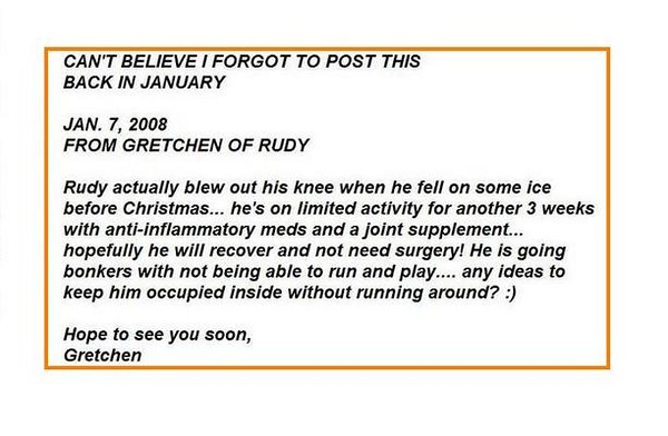 RUDY eMail get well