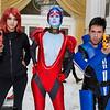 Commander Shepard, Samara, and Kaidan Alenko