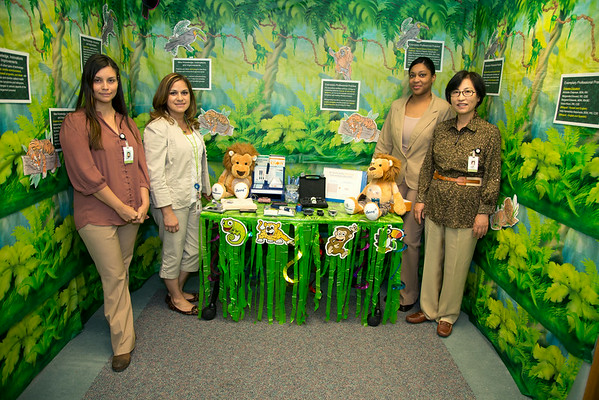 "The Diabetes Center participated in the Open House for MAGNET recognition in Holy Name Medical Center by creating an educational room called ""Finding Your Way Through The Diabetes Jungle"" at HNMC. 7/24/14  Photo by Jeff Rhode /Holy Name Medical Center"