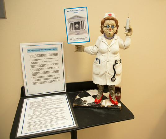 """Same Day Surgery participated in the Open House for MAGNET recognition in Holy Name Medical Center by creating a """"Metropolitan Museum of Art"""" themed room at HNMC. 7/29/14  Photo by Victoria Matthews/Holy Name Medical Center"""