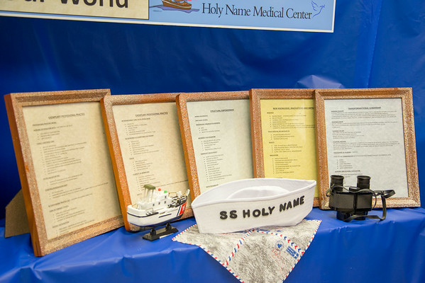 "The Medical Clinic participated in the Open House for MAGNET recognition in Holy Name Medical Center by creating a ""SS Holy Name"" themed room at HNMC. 7/30/14  Photo by Victoria Matthews/Holy Name Medical Center"