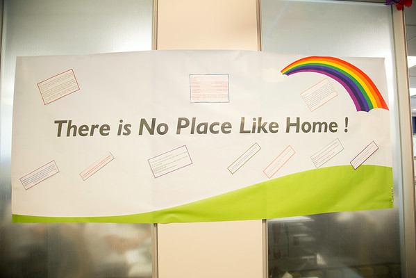 "The Home Çare Department participated in the Open House for MAGNET recognition in Holy Name Medical Center by creating a ""No Place Like Home"" theme on the floor.  7/31/14. Photo by Victoria Matthews/Holy Name Medical Center."