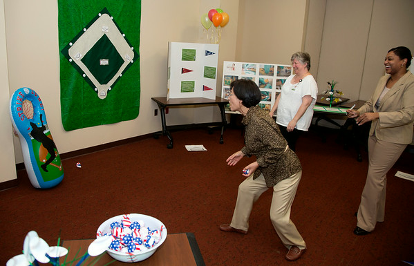 "The Radiology Department participated in the Open House for MAGNET recognition in Holy Name Medical Center by creating an educational room with a baseball theme room titled ""Take Me Out to the Ballgame"" at HNMC. 7/24/14  Photo by Jeff Rhode /Holy Name Medical Center"