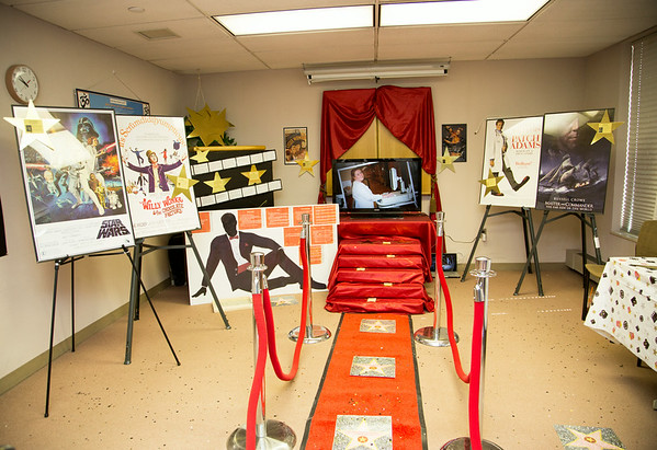 """3 Marian participated in the Open House for MAGNET recognition in Holy Name Medical Center by creating a """"Hollywood Walk of Fame"""" themed room at HNMC. 7/25/14  Photo by Victoria Matthews/Holy Name Medical Center"""