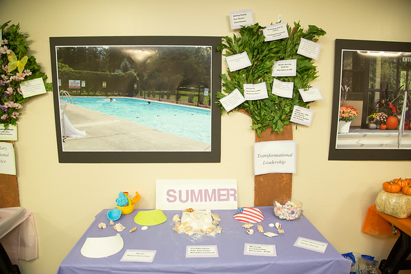"The Villa Marie Claire participated in the Open House for MAGNET recognition in Holy Name Medical Center by creating a ""Four Seasons"" theme on the floor.  7/31/14. Photo by Victoria Matthews/Holy Name Medical Center."