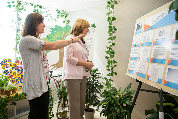 The Pavillion participated in the Open House for MAGNET recognition in Holy Name Medical Center by creating a Greenhouse themed room with information on patient care at HNMC. 7/22/14  Photo by Victoria Matthews/Holy Name Medical Center