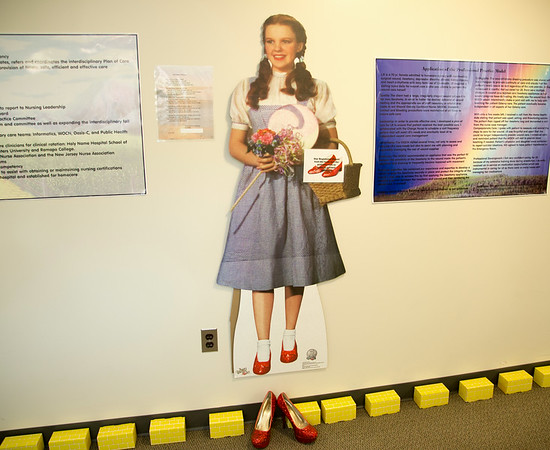 """The Home Çare Department participated in the Open House for MAGNET recognition in Holy Name Medical Center by creating a """"No Place Like Home"""" theme on the floor.  7/31/14. Photo by Victoria Matthews/Holy Name Medical Center."""