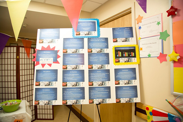 The Emergency Department participated in the Open House for MAGNET recognition in Holy Name Medical Center by creating a carnival on the floor.  7/17/14. Photo by Victoria Matthews/Holy Name Medical Center.