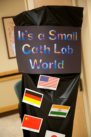 """The Cardiac Cath Lab participated in the Open House for MAGNET recognition in Holy Name Medical Center by creating an educational room called """"It's a Small World"""" at HNMC. 7/24/14  Photo by Jeff Rhode /Holy Name Medical Center"""