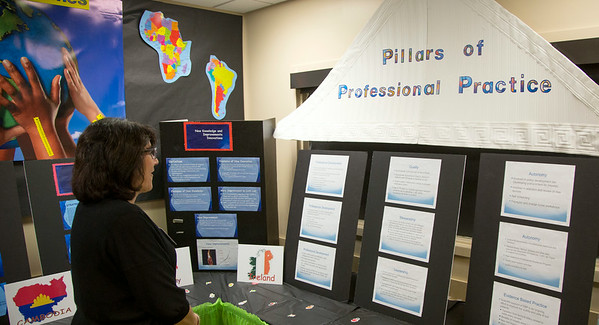 "The Cardiac Cath Lab participated in the Open House for MAGNET recognition in Holy Name Medical Center by creating an educational room called ""It's a Small World"" at HNMC. 7/24/14  Photo by Jeff Rhode /Holy Name Medical Center"