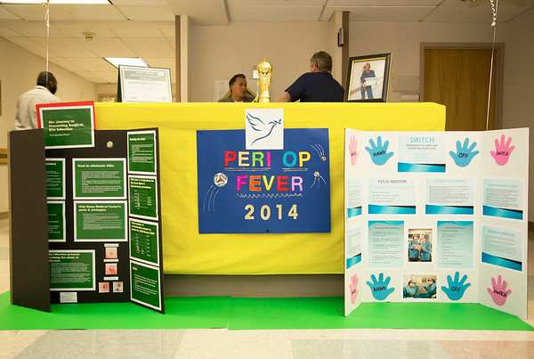 """The OR and PACU participated in the Open House for MAGNET recognition in Holy Name Medical Center by creating a """"Periop"""" themed room at HNMC. 7/29/14  Photo by Victoria Matthews/Holy Name Medical Center"""