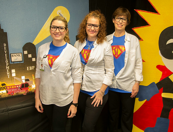"The Outcomes Management department participated in the Open House for MAGNET recognition in Holy Name Medical Center by creating an educational ""Superhero"" room at HNMC. 8/1/14  Photo by Jeff Rhode /Holy Name Medical Center"