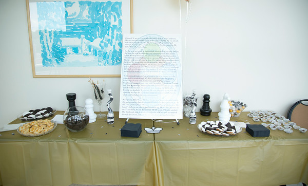 """6 Marian participated in the Open House for MAGNET recognition in Holy Name Medical Center by creating a """"Chess"""" themed room at HNMC. 7/29/14  Photo by Victoria Matthews/Holy Name Medical Center"""