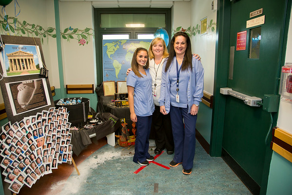 "The PEDS, OB, and LDRP Departments participated in the Open House for MAGNET recognition in Holy Name Medical Center by creating an ""Our World"" themed room at HNMC. 7/30/14  Photo by Victoria Matthews/Holy Name Medical Center"