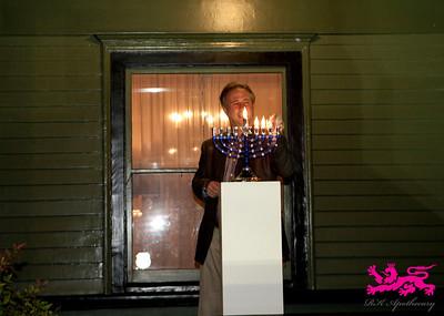 Menorah lighting led by Rabbi Jeff Marx