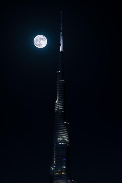 Burj Khalifa Moon