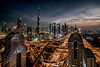 Dubai downtown Skyline. Interchange One.