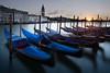 Gondolas. Grand Canal. Venice