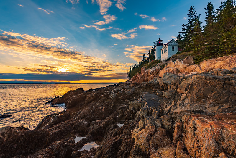 Bass Harbor Head Light before Sunset