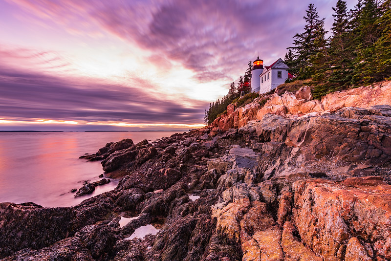 Bass Harbor Head Light after Sunset