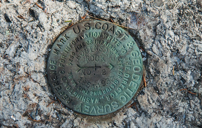 Geodetic Survey marker, Robinson's Rock, Phippsburg Maine