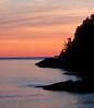 Coastal sunset scenic, Casco Bay, Small Point Harbor, Newberry Point, Phippsburg Maine