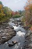 Kingsbury Stream in Abbott, Maine looking north, late September, 2012, Somerset county fall foliage