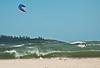 Kite boarding, Popham Beach State Park, Phippsburg Maine