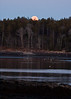 moon rise over Totman Cove, Phippsburg, Maine, November