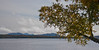 Mount Kineo viewed across Moosehead Lake from Rockwood, Maine, clouds lifting after rain storm