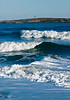 Pond Island Lighthouse with surf, Popham Beach, Phippsburg Maine scenic