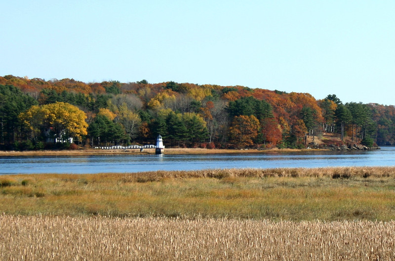 Doubling Point Lighthouse, Kennebec River, Fall