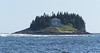 Wood Island as seen from the waters of far eastern Casco Bay near Georgetown, Wood Island  The legend is that the man who owns this does not stay there as his young wife who shared it with him died and he can't bear being there without her. Very romantic, but sad.  Maine coastal scenic,