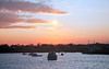 Rockland Harbor, Rockland Maine, sunset, lobster boats