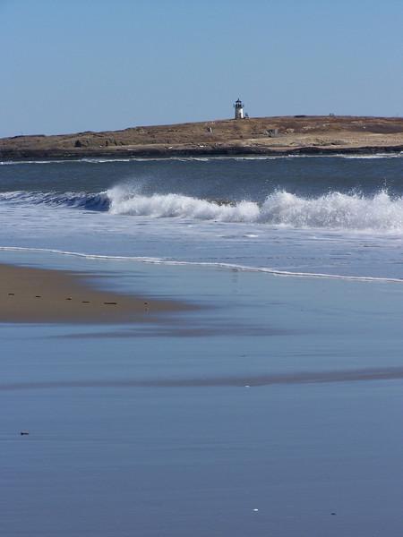 Pond Island Lighthouse, Popham Beach, Phippsburg, Maine