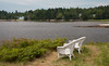 wicker chairs for ocean view, Green Point, Cox's Head, Phippsburg Maine, summer scenic