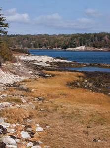 Totman Cove, Phippsburg Maine October scenic.