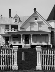 Victorian detail, study in black and white, Stonington, Maine