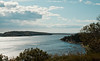 Atkins Bay from Wilbur Preserve, Phippsburg Maine, panoramic, Maine scenic, fall Cox's Head, Coxs Head, Wilbur Preserve,