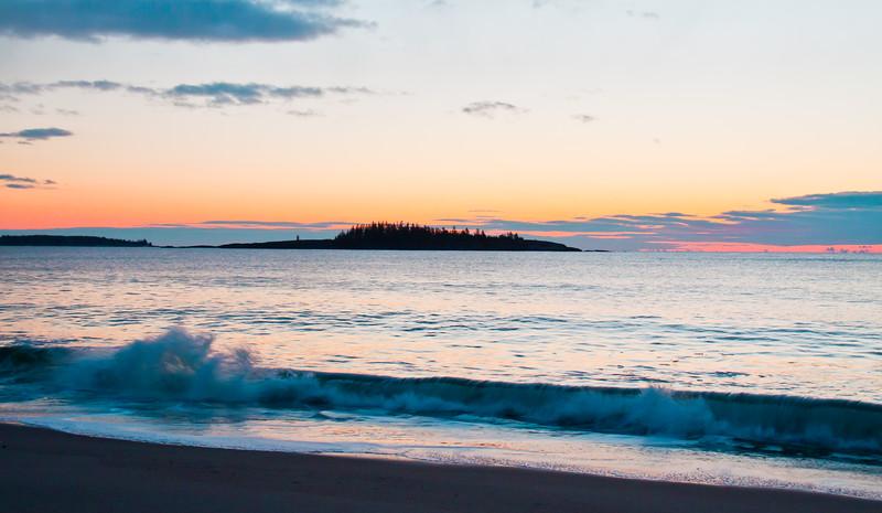 Popham beach, Phippsburg Maine sunrise, February 2012